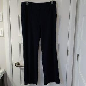 Navy blue wide leg trouser